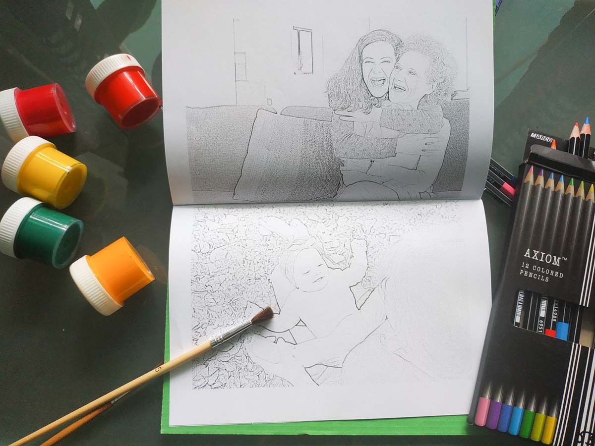 Custom Coloring Books with Mimi Panda