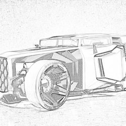 Convertible coupe - Coloring page
