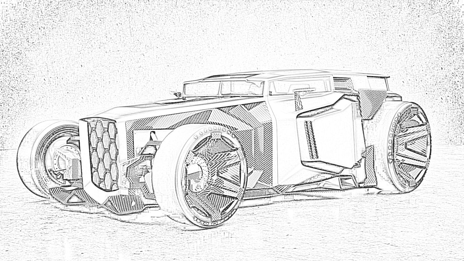 Lamborghini Hot Rod Coloring Page