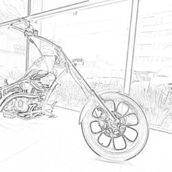 BMW motorcycle - Coloring page