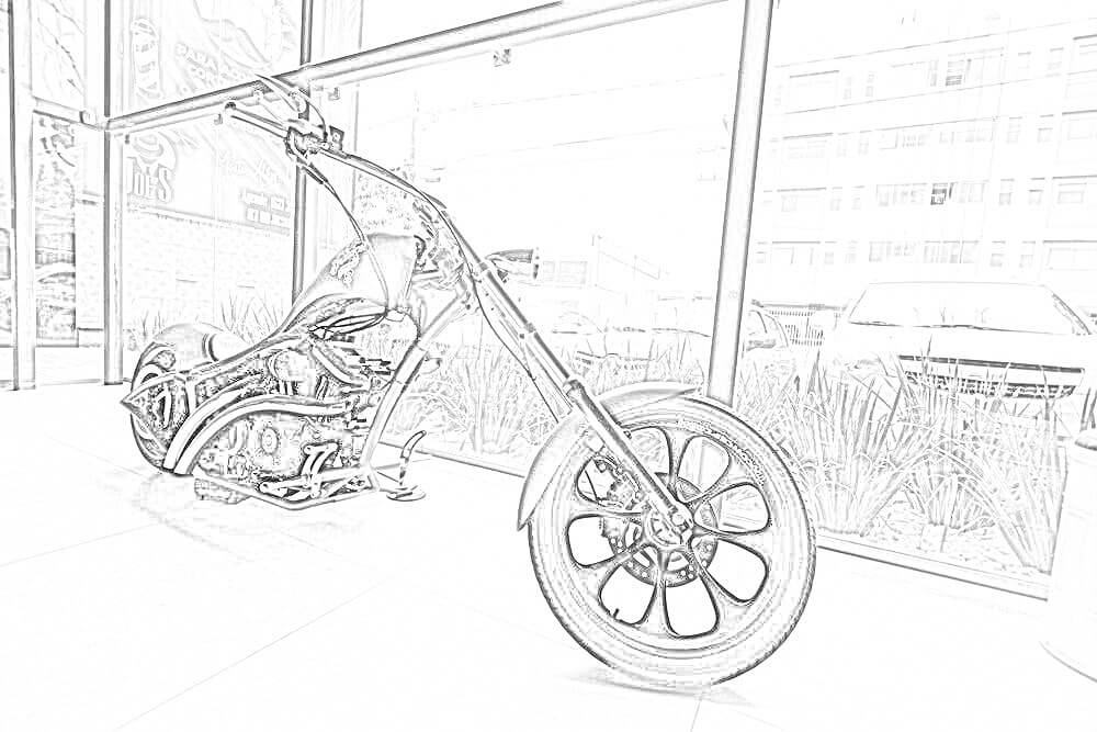 Chopper Rider Coloring Page