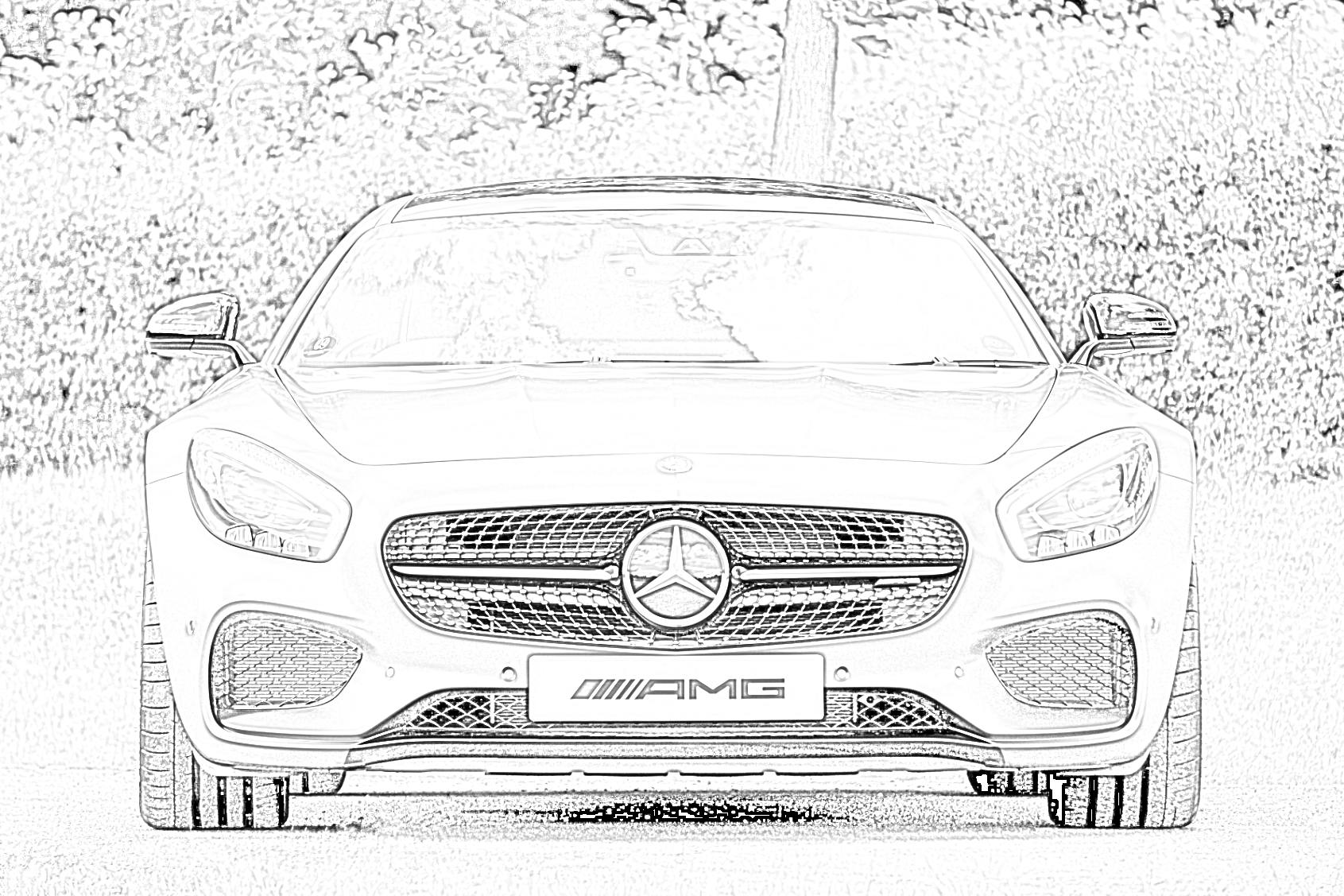 Mercedes Benz Coloring Page