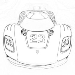 Lamborghini Hot Rod - Coloring page