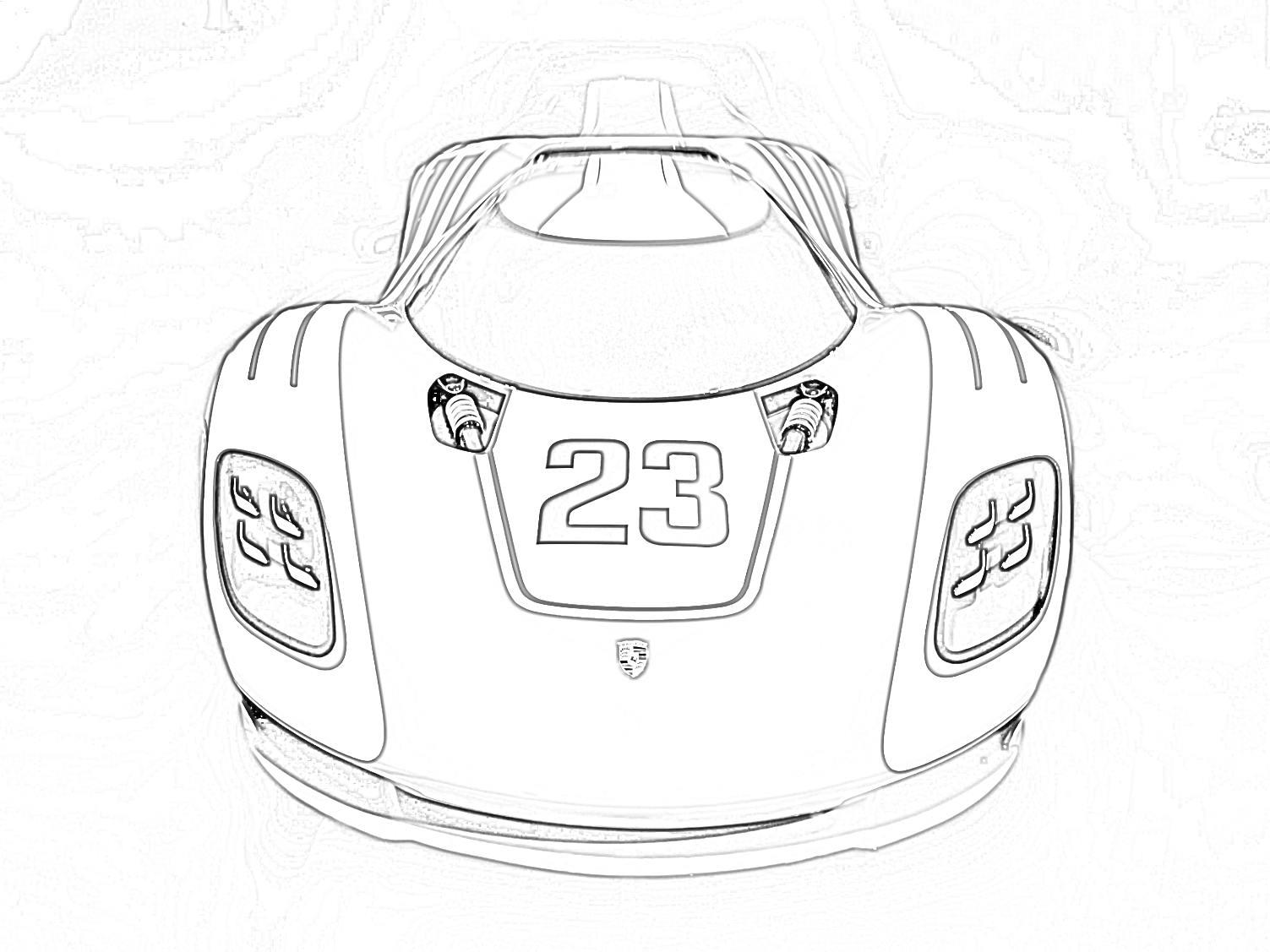 Porsche 917 Coloring Page