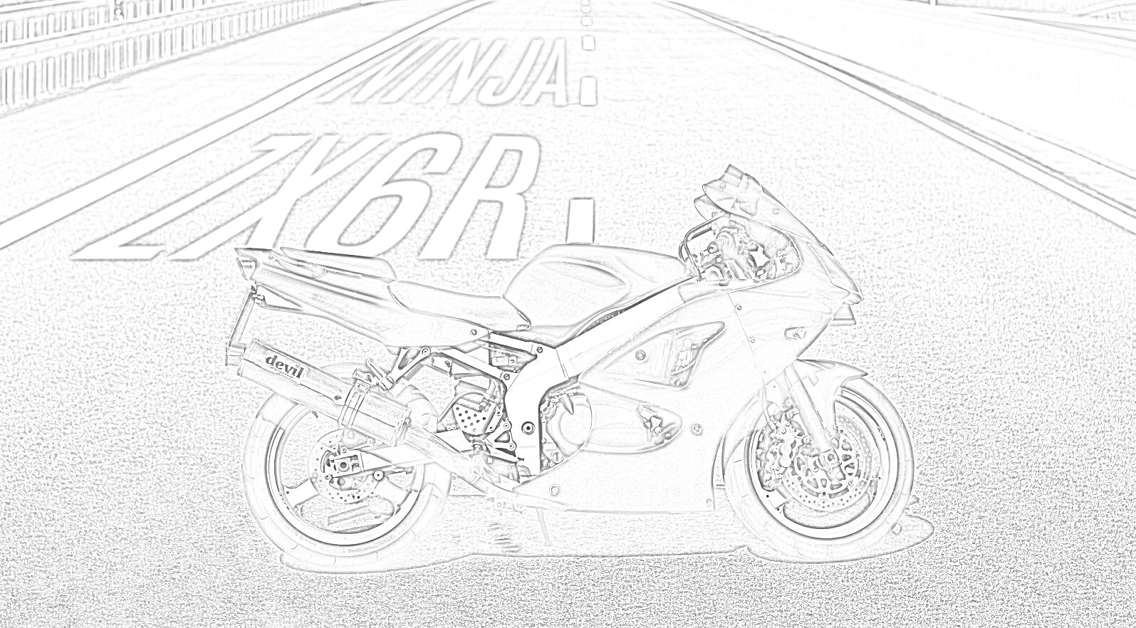 Kawasaki Ninja Coloring Page
