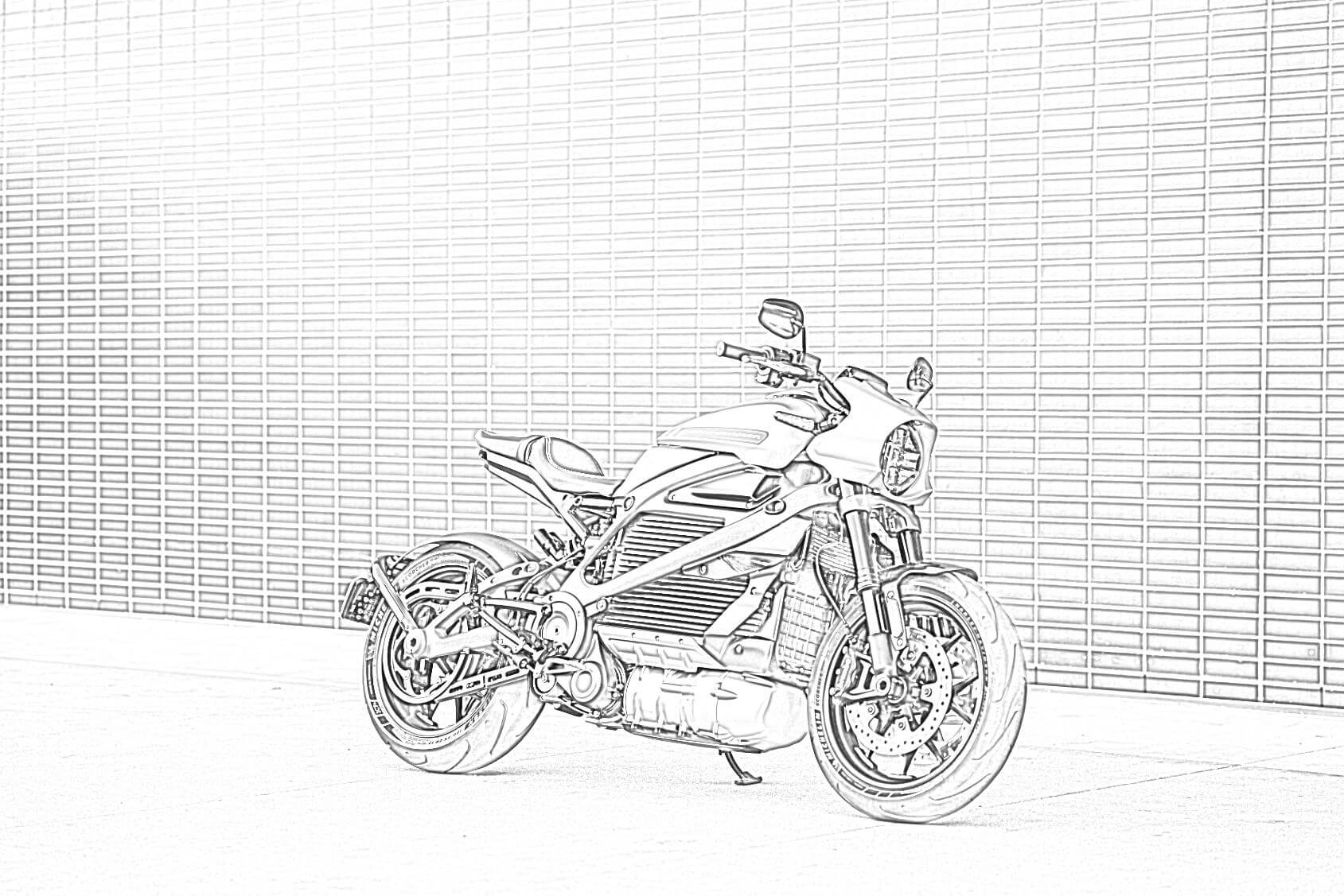 Harley Davidson Livewire Coloring Page