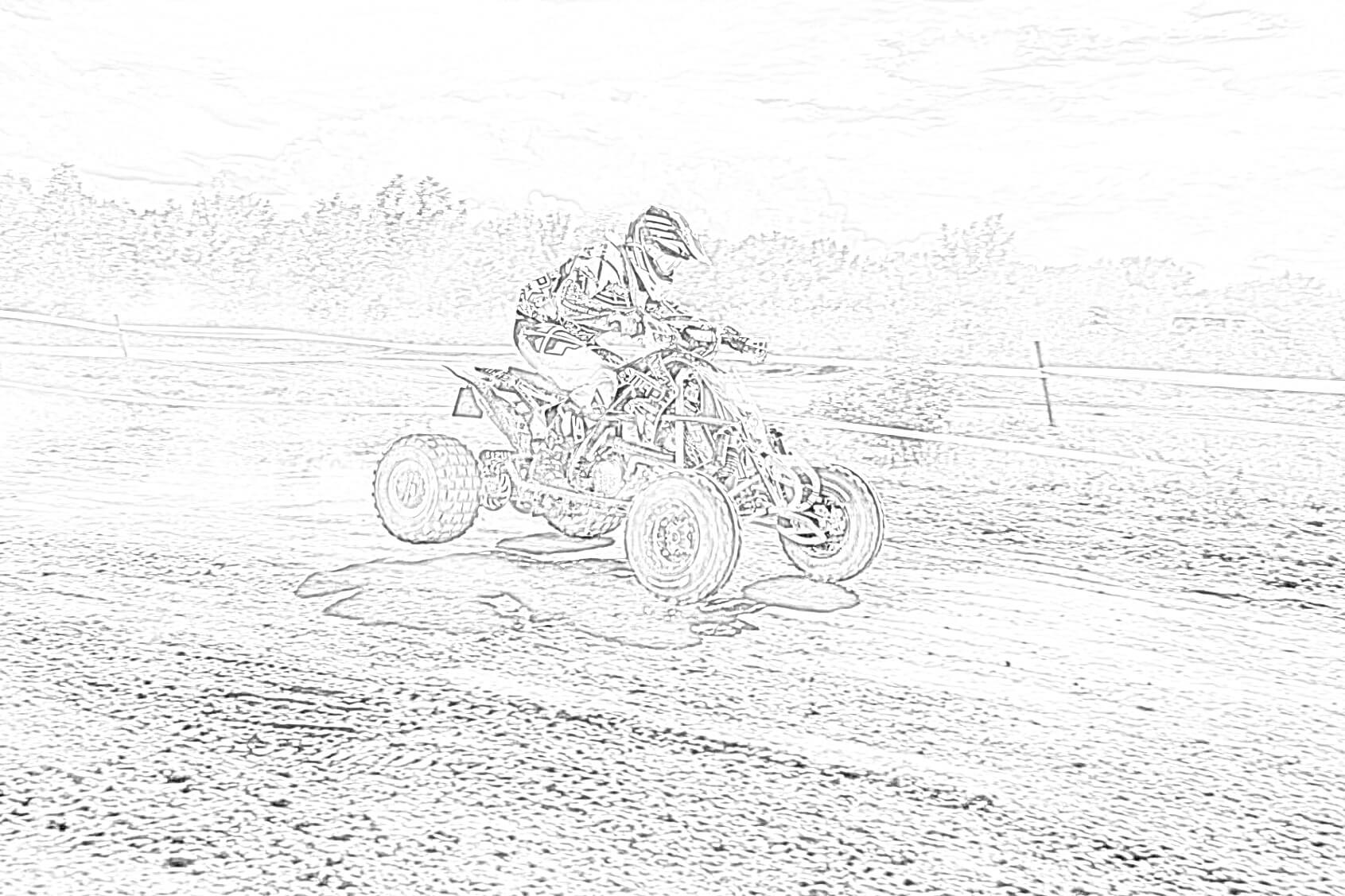 All-terrain Vehicle Coloring Page