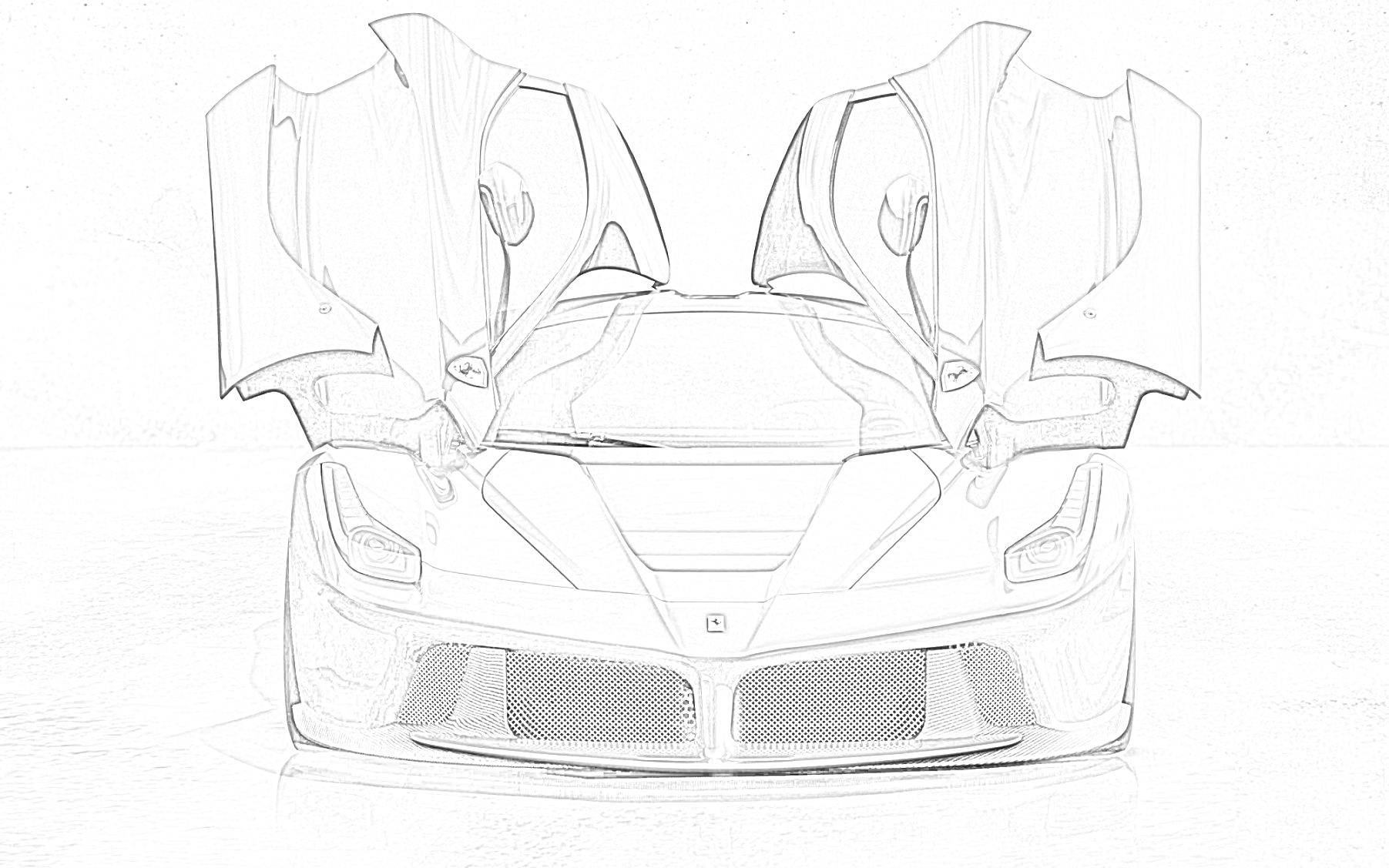 Ferrari Laferrari Car Coloring Page