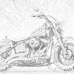 BMW R80 motorcycle - Coloring page