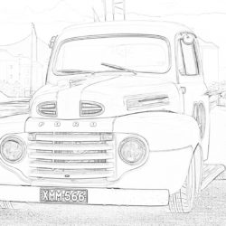 Ford car - Coloring page