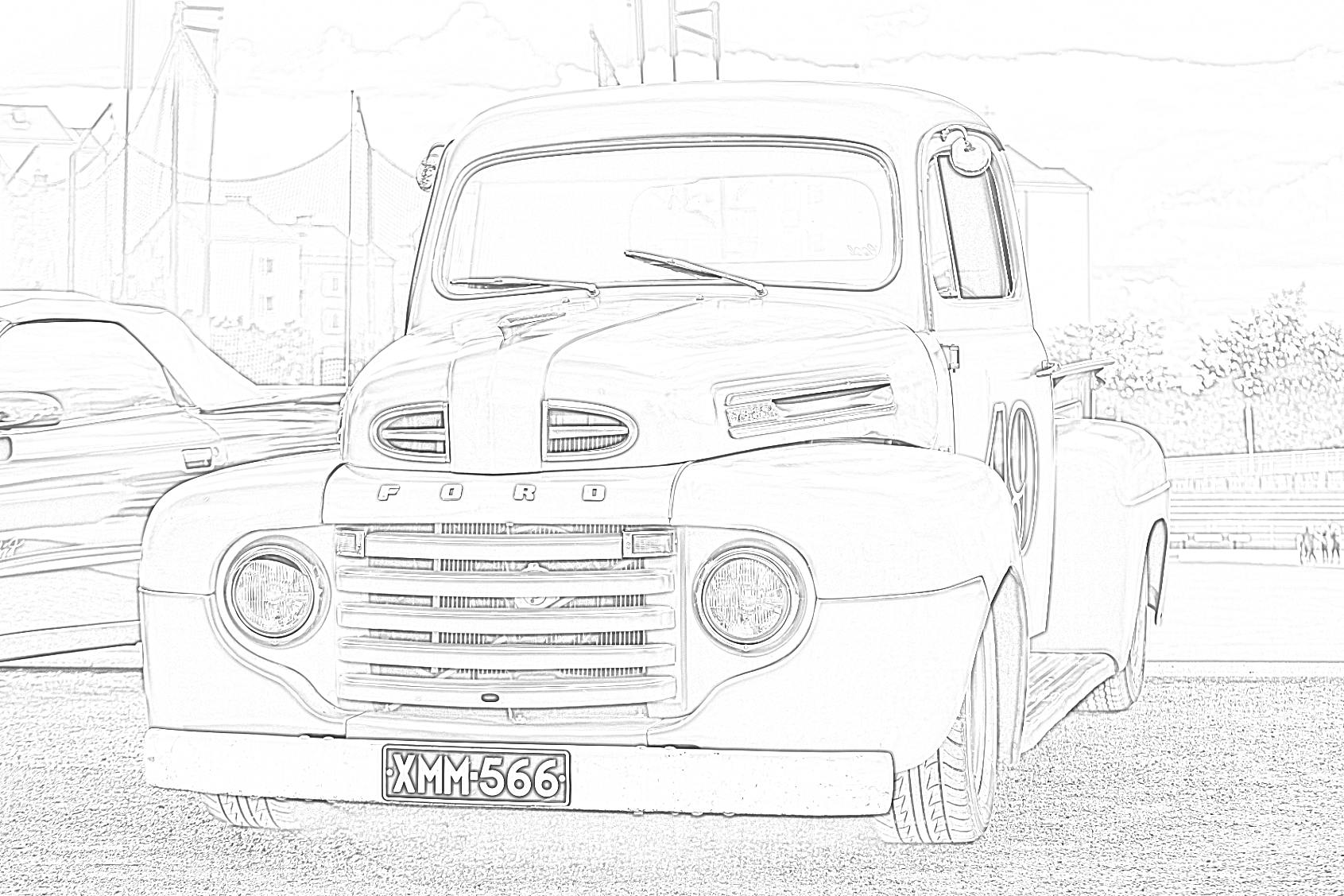 Ford Lorry Car Coloring Page