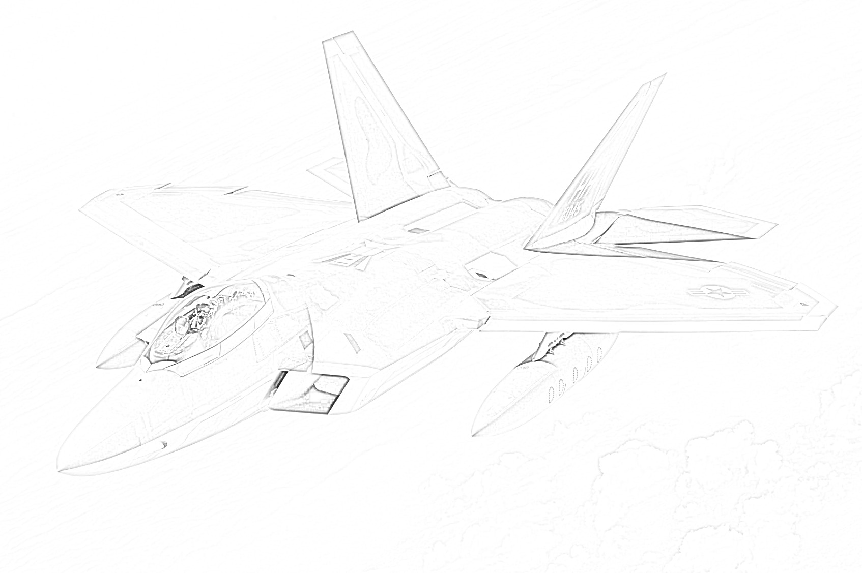 Military Jet Fighter coloring page
