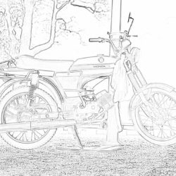 Vespa Scooter - Coloring page