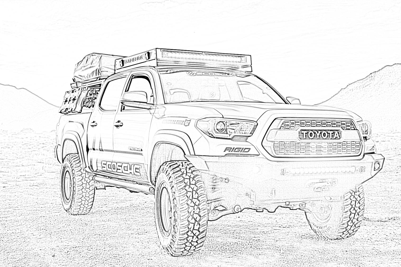 Toyota Truck Coloring Page