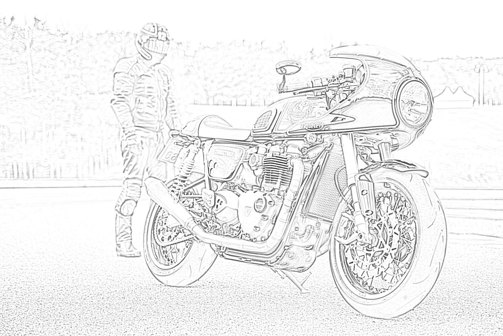 Triumph Motorcycle Coloring Page
