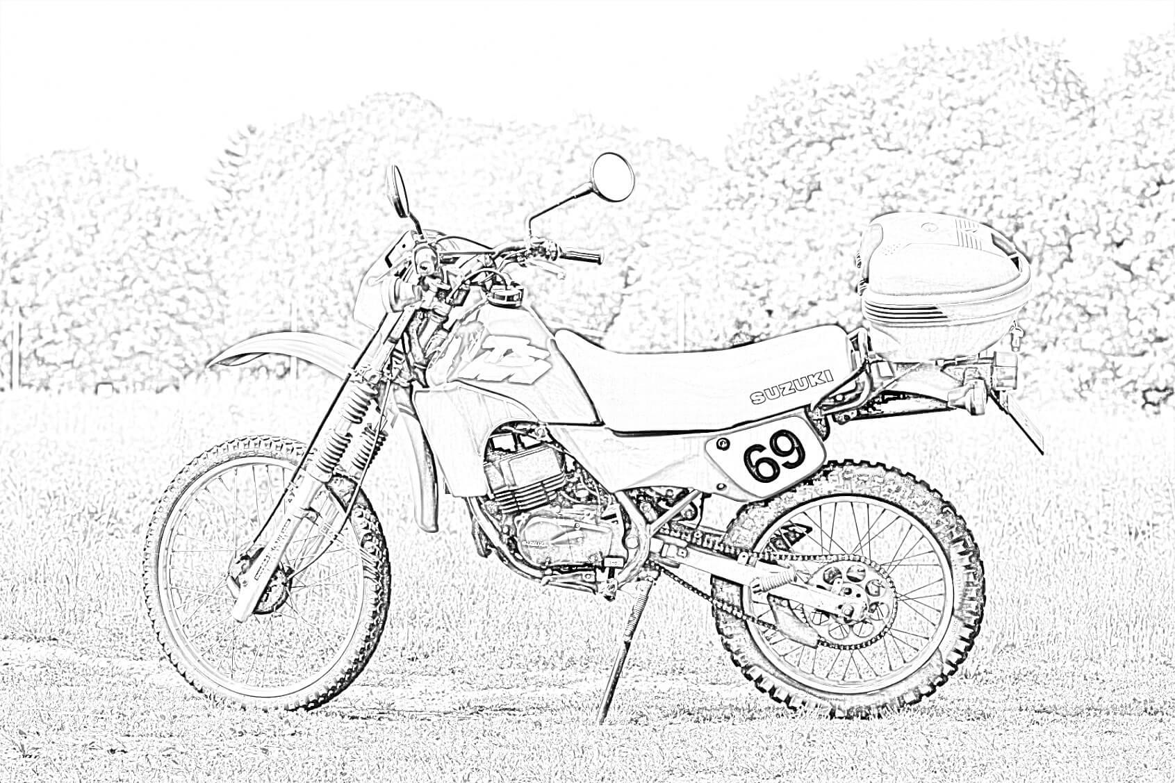 Enduro Suzuki Coloring Page
