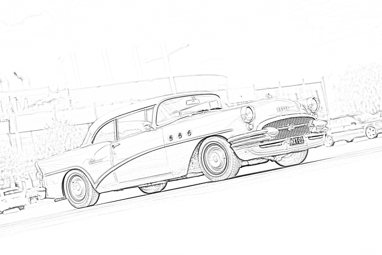 Buick Roadmaster Riviera Coloring Page