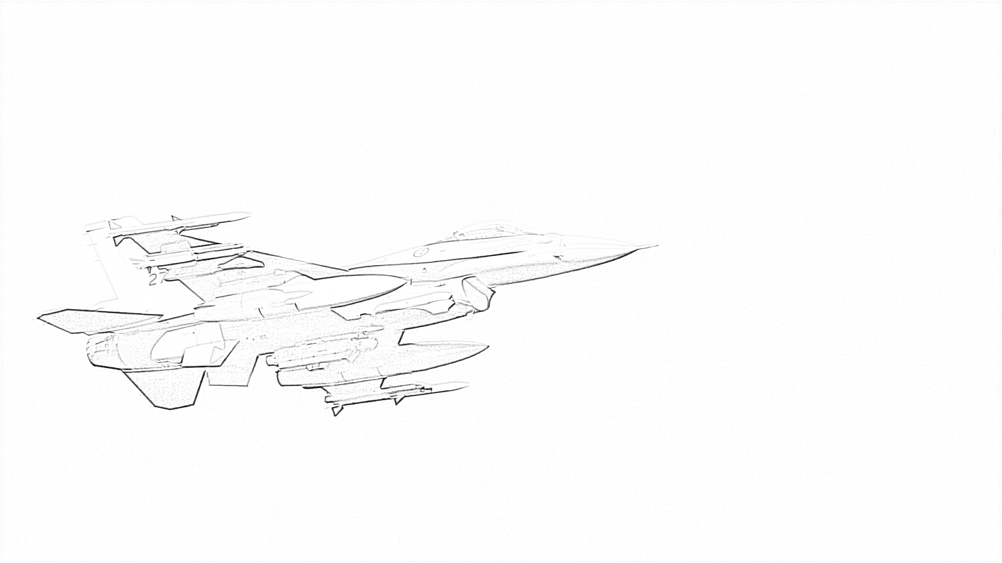 Free Jet Fighter Coloring Page