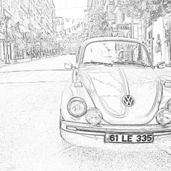 Volkswagen Beetle - Coloring page