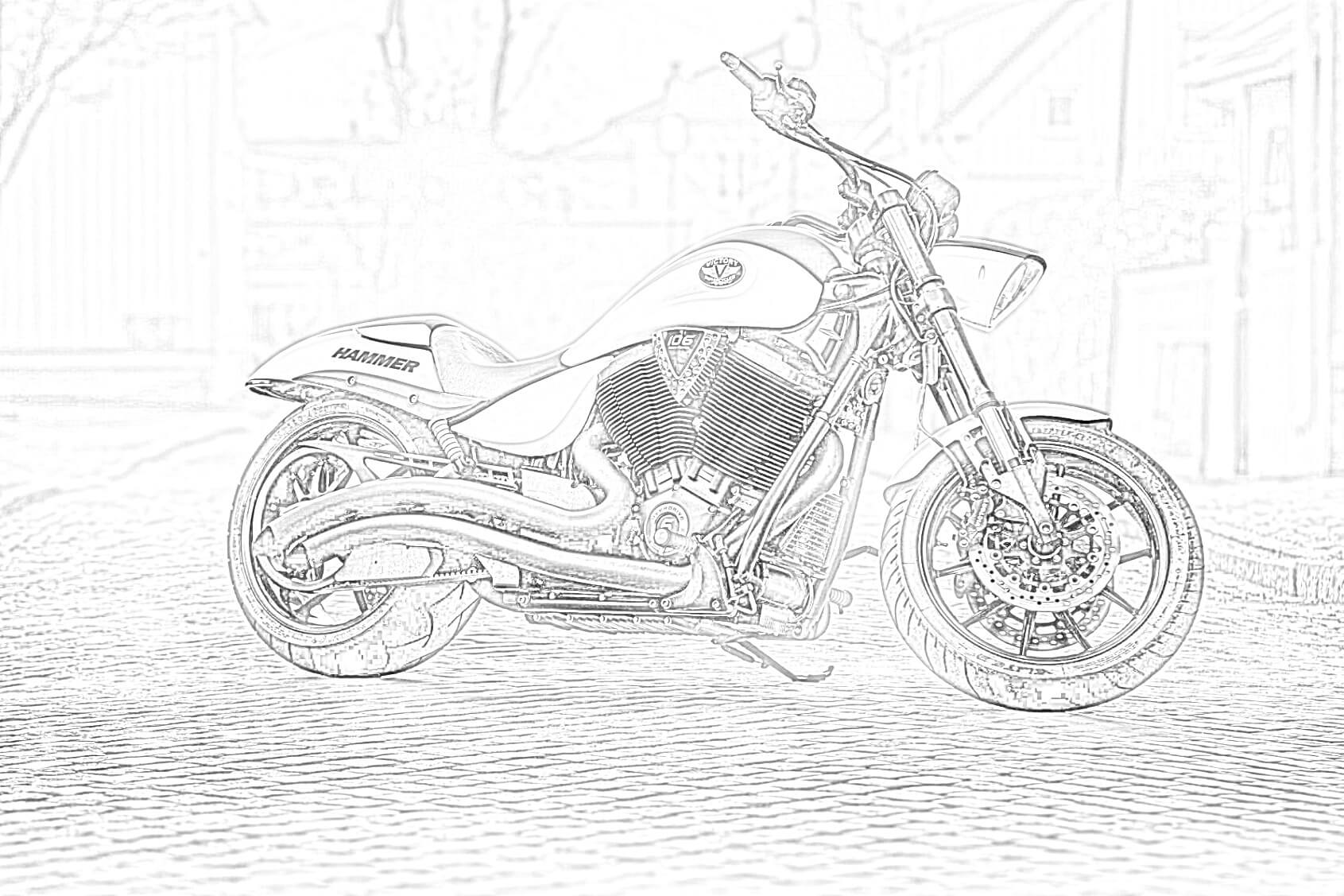 Victory Hammer Coloring Page