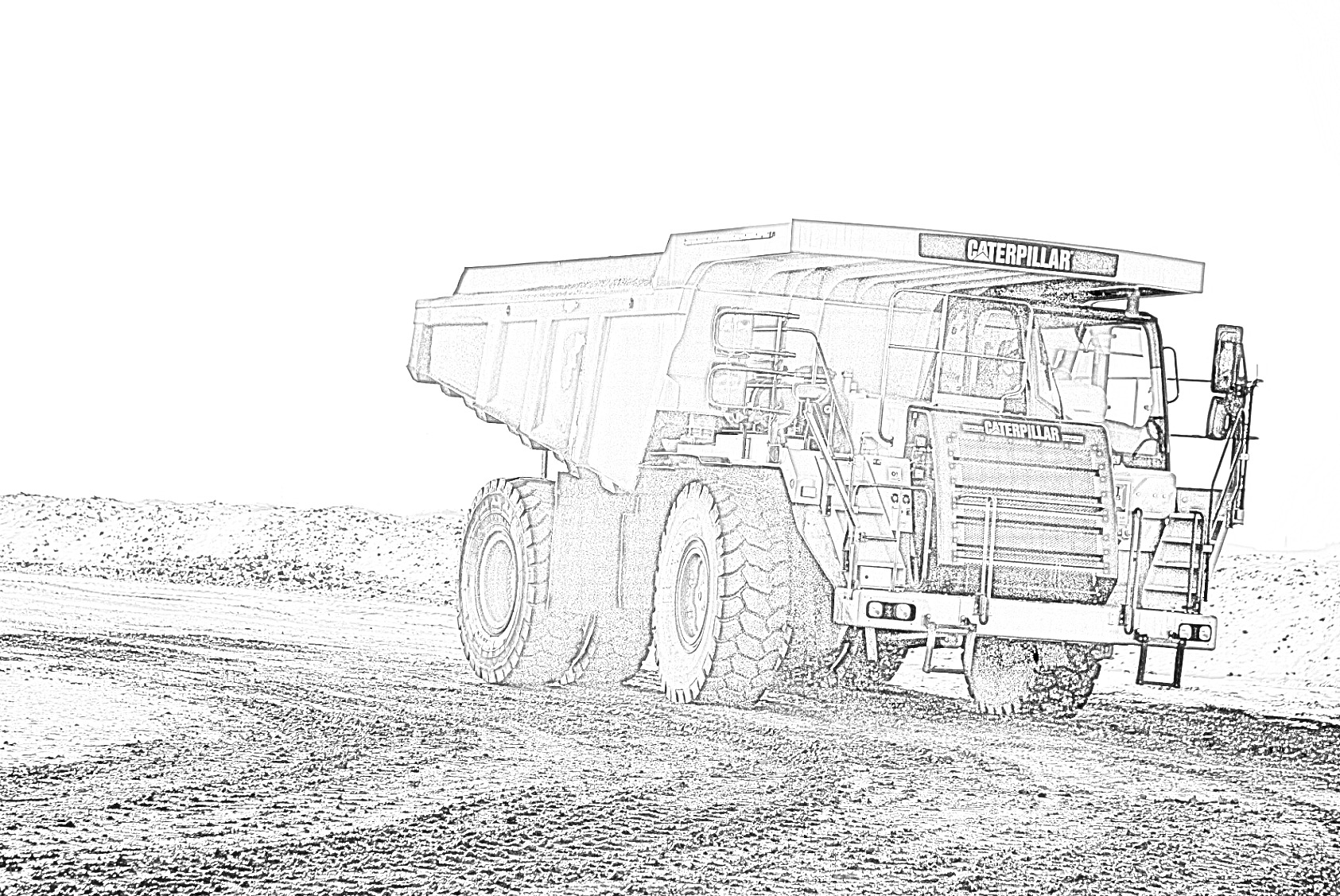 Caterpillar Truck Coloring Page