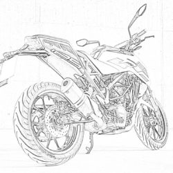 Motor Scooter Lambretta - Coloring page