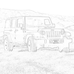Jeep Wrangler - Coloring page