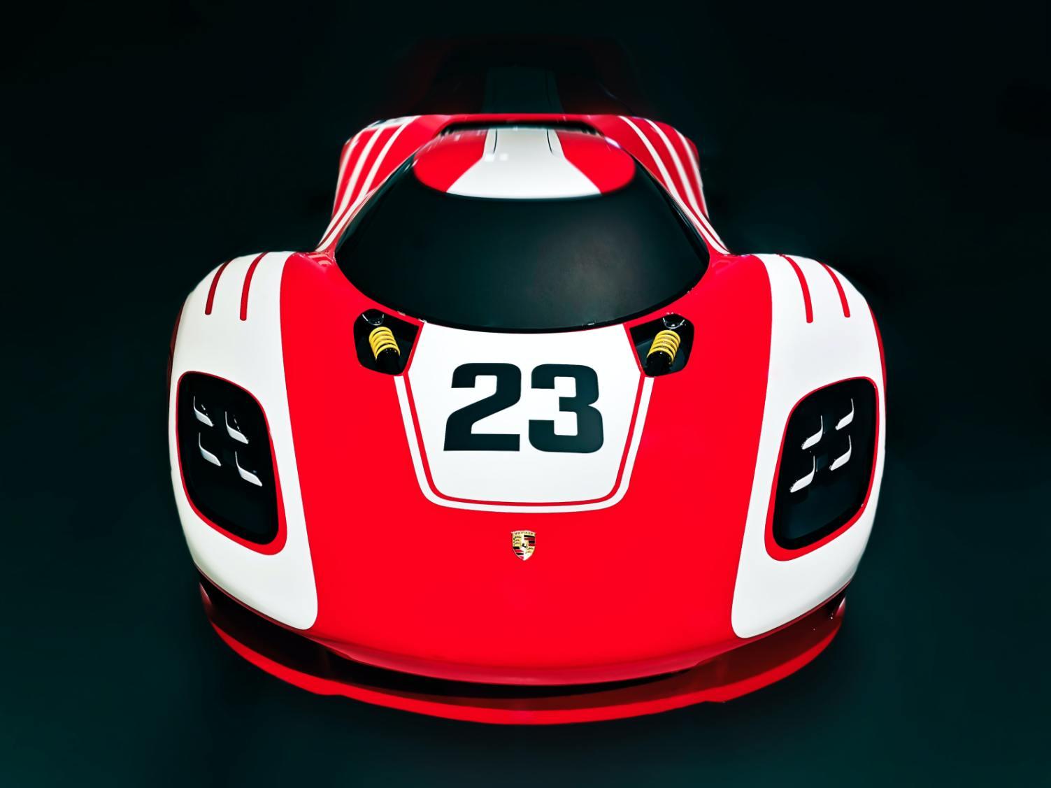 Red Porsche 917 - Original image