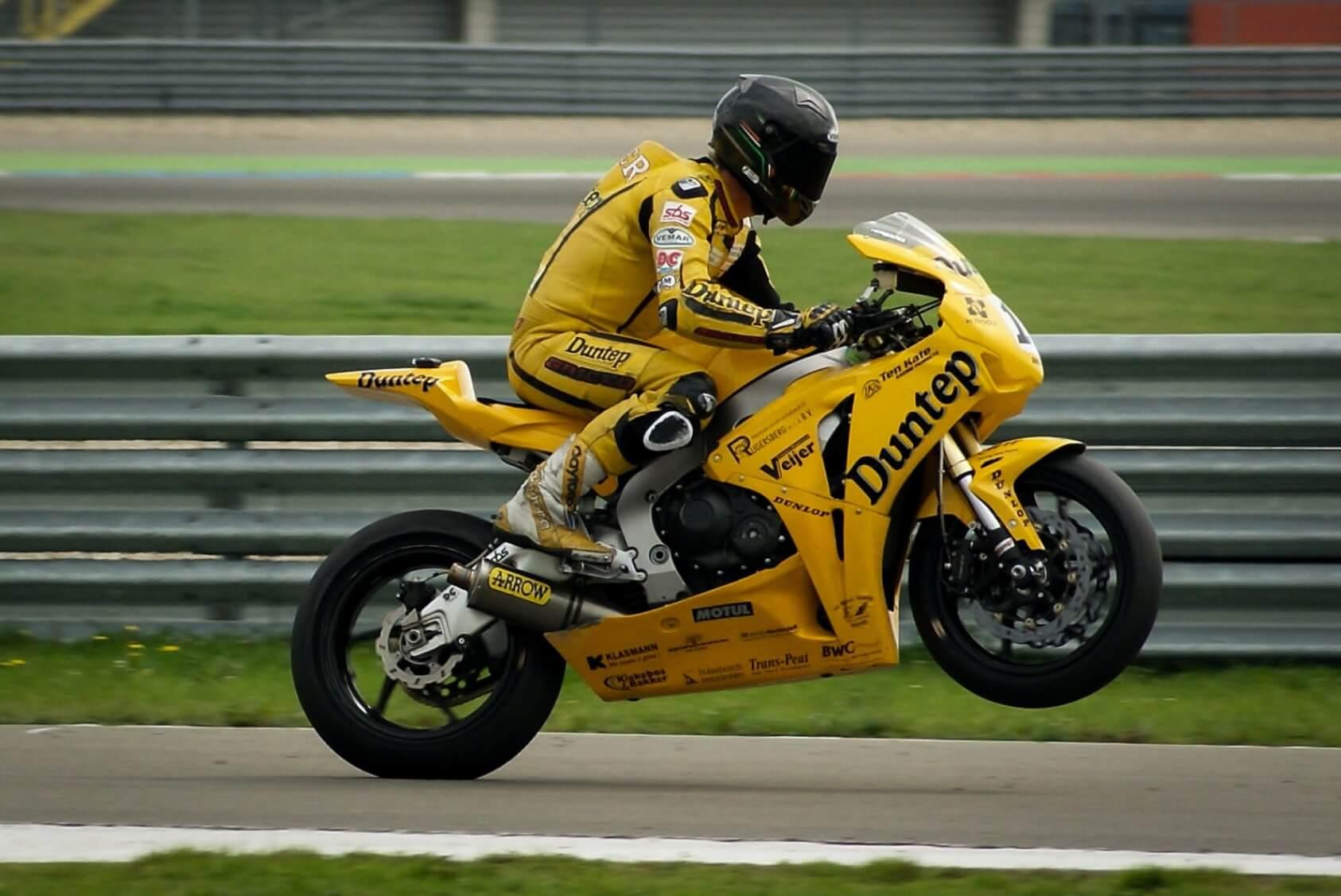Yellow Racing Motorcycle - Original image