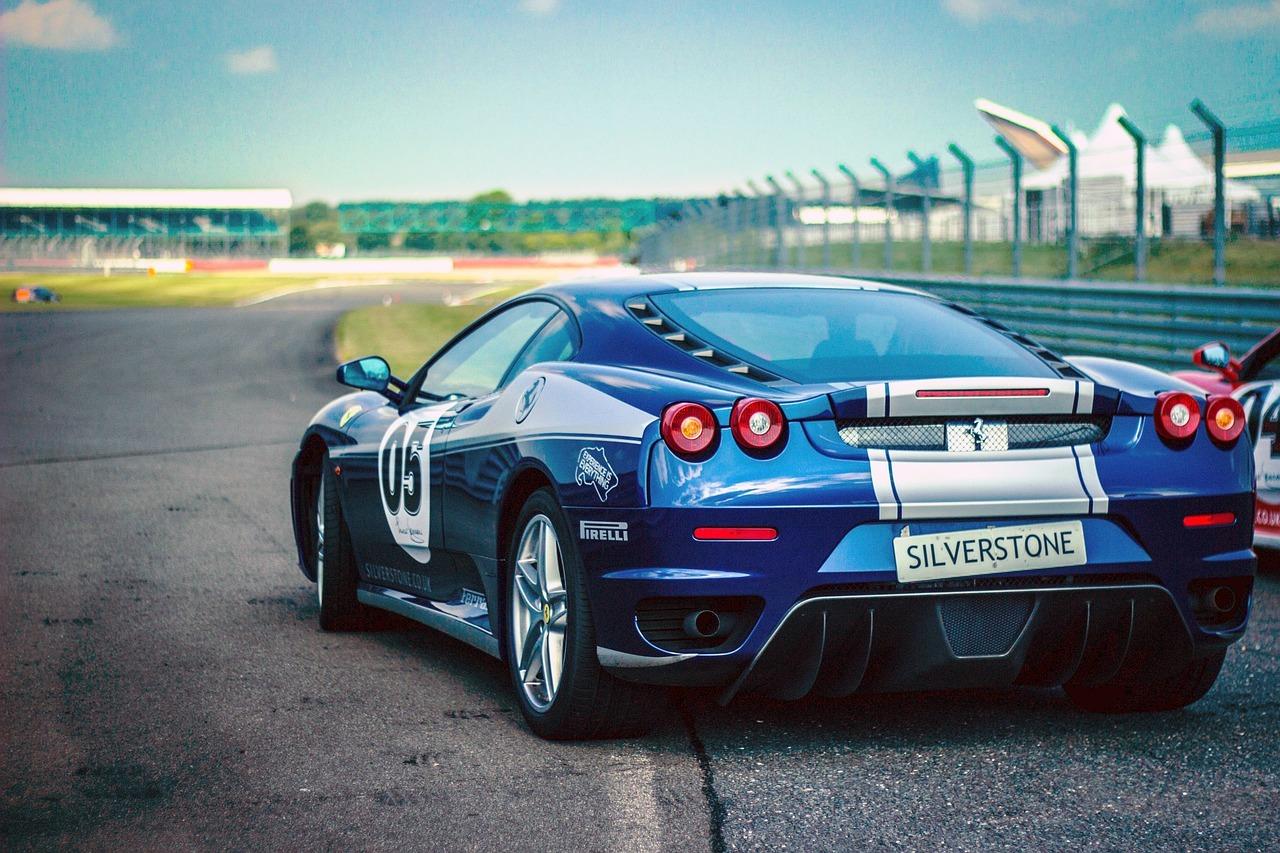 Blue Sports Car - Original image