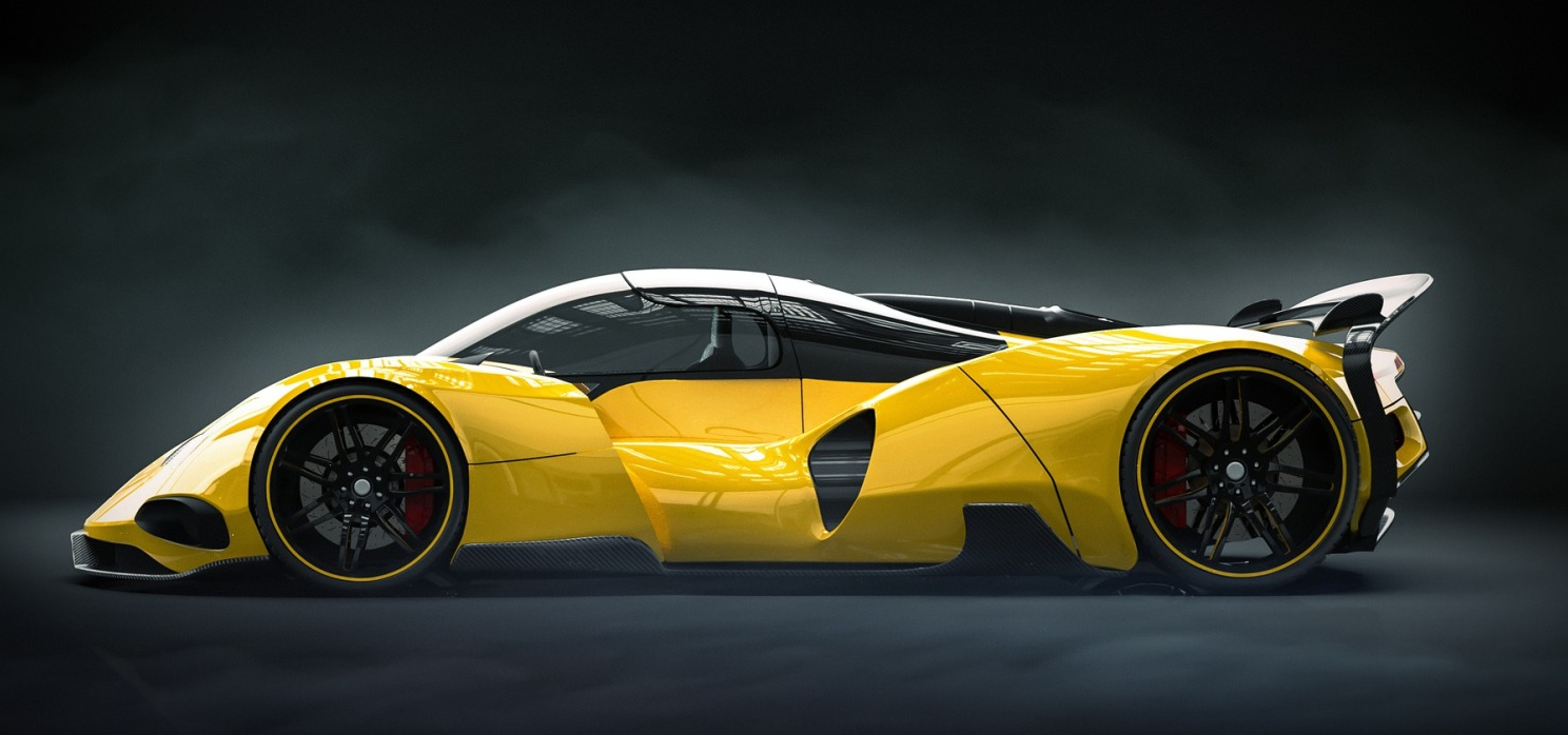 Yellow Super Car - Original image