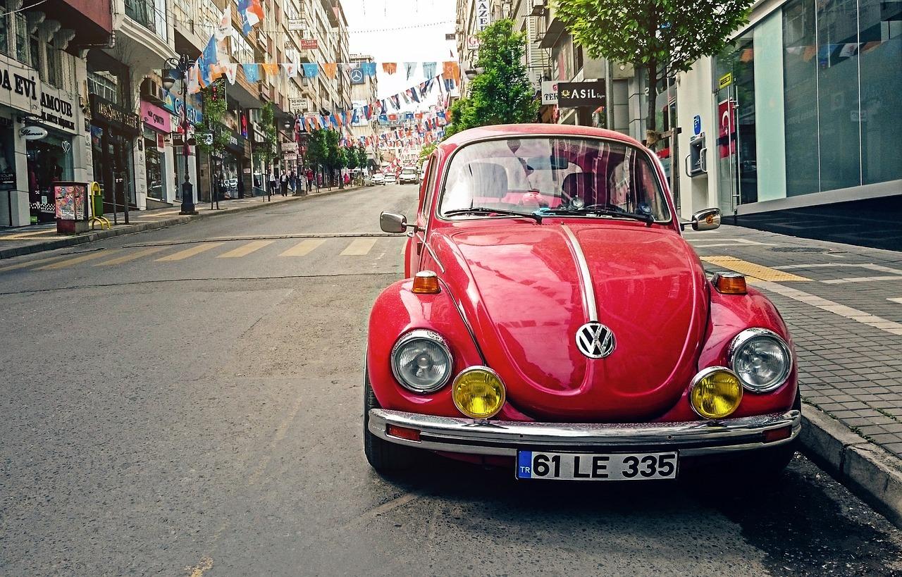 Red VW Beetle - Original image