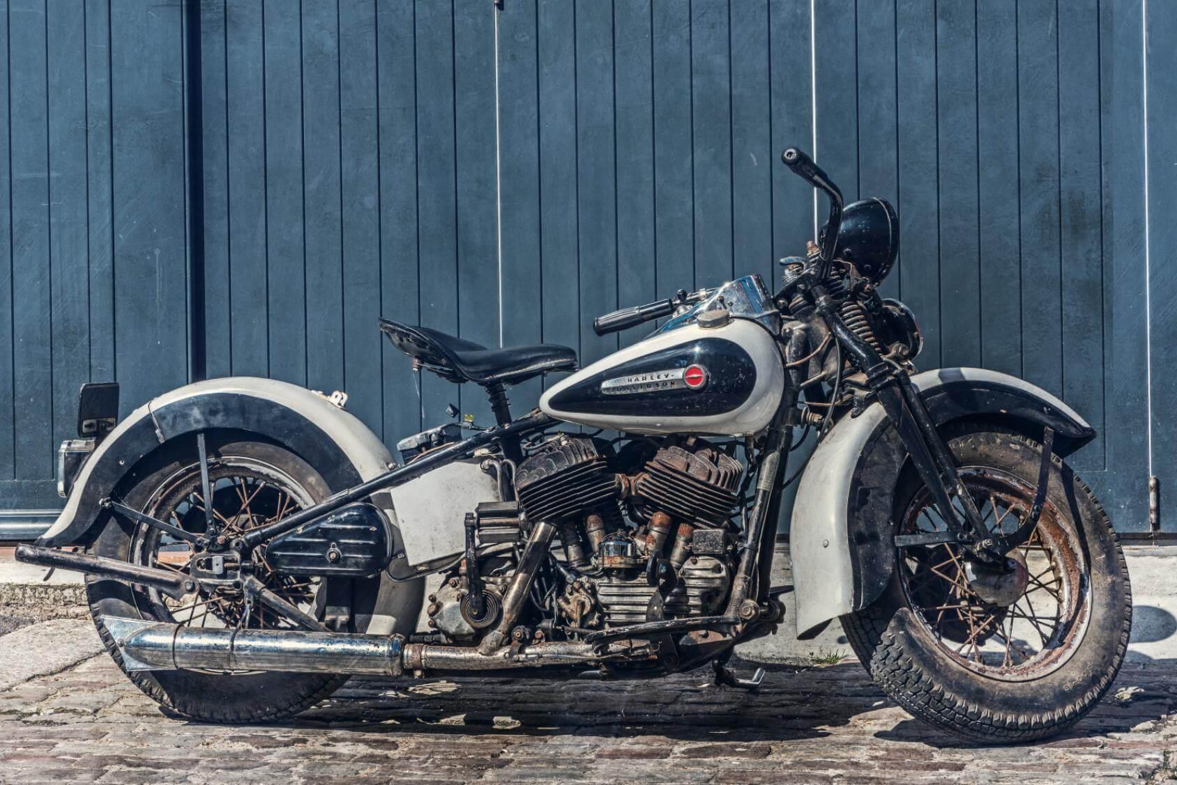 Vintage Harley Davidson Motorcycle - Original image