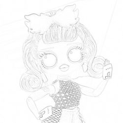 Neonlicious Lol Doll - Coloring page