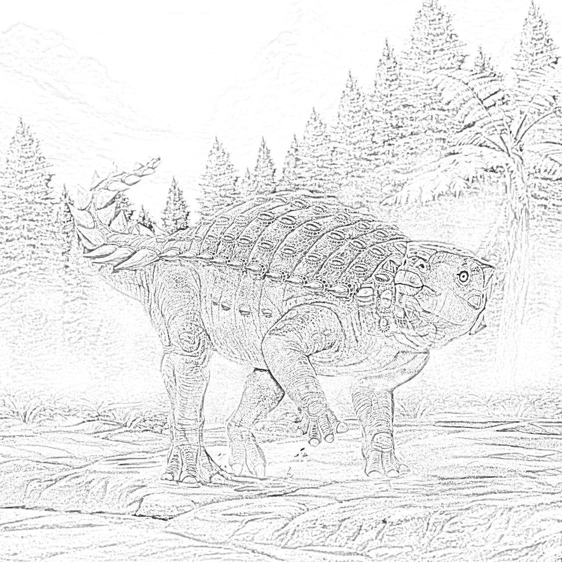 Minmi Dinosaur Coloring Page
