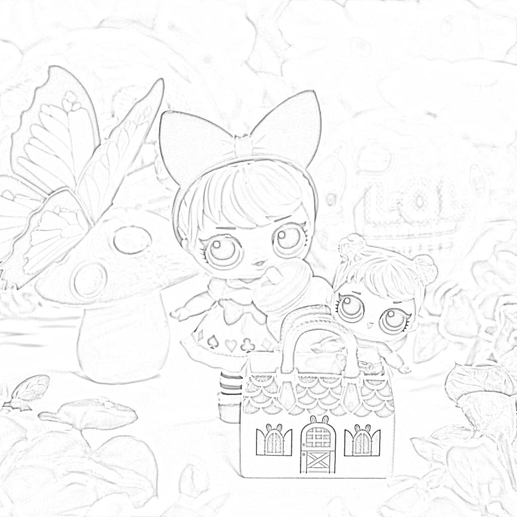 Lol Sisters Curious Q.T. Coloring Page