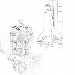 Space Shuttle - Coloring page