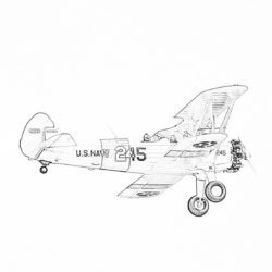 Vintage airplane - Coloring page