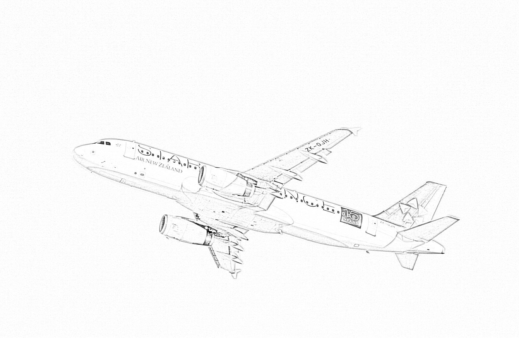 Airbus A320 Coloring Page