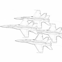 Flying fighter jets - Coloring page