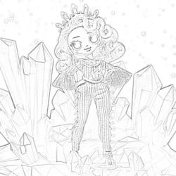 Crystal Star Lol Doll - Coloring page