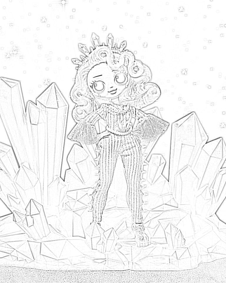 Crystal Star Lol Doll Coloring Page