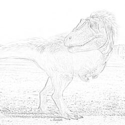 T-Rex Toy Story - Coloring page