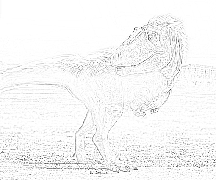 Lythronax Dinosaur Coloring Page