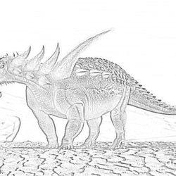 Lythronax dinosaur - Coloring page