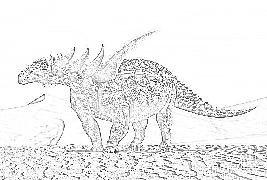 Sauropelta Coloring Page