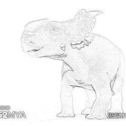 Pachyrhinosaurus - Coloring page