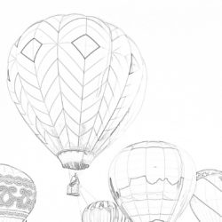 Hot air balloon - Coloring page