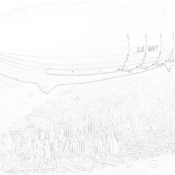 Zeppelin - Coloring page