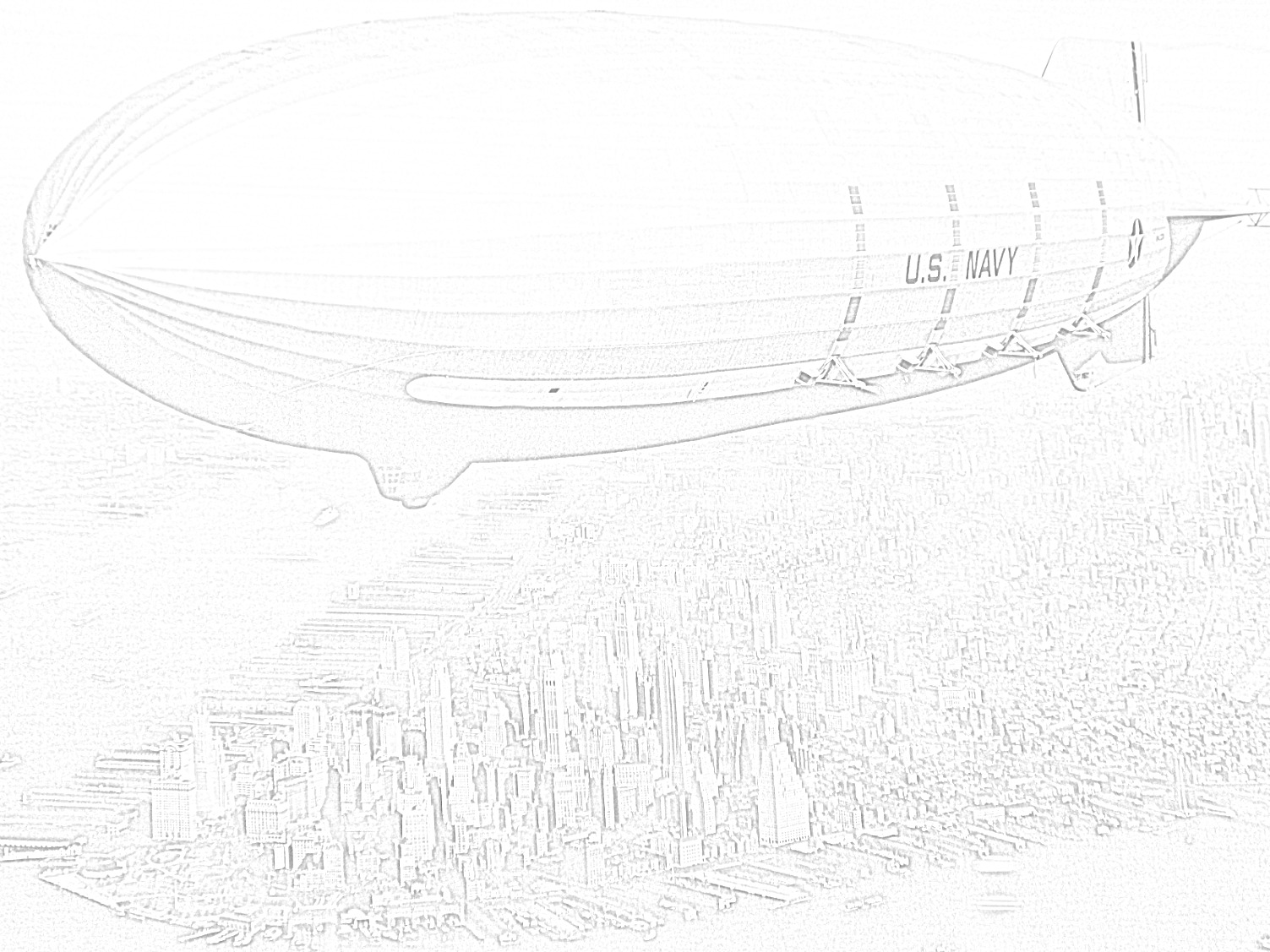 Free Printable Zeppelin Coloring Page